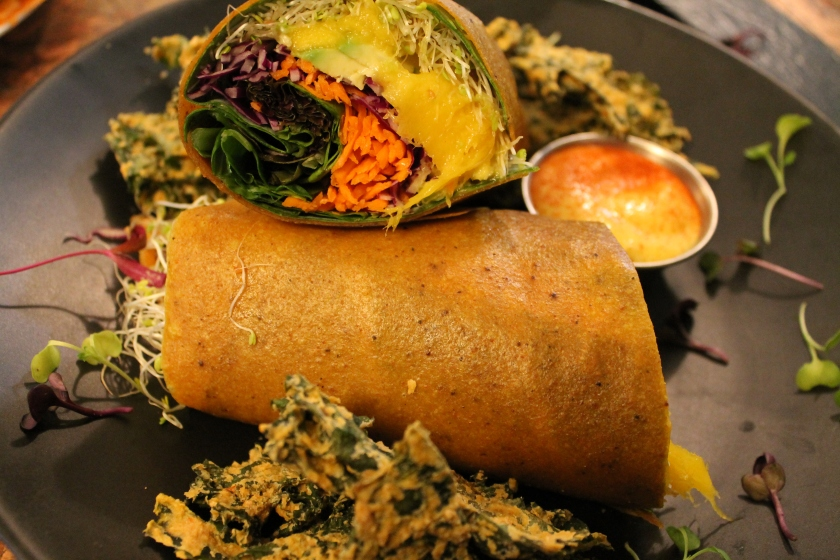mango curry wrap