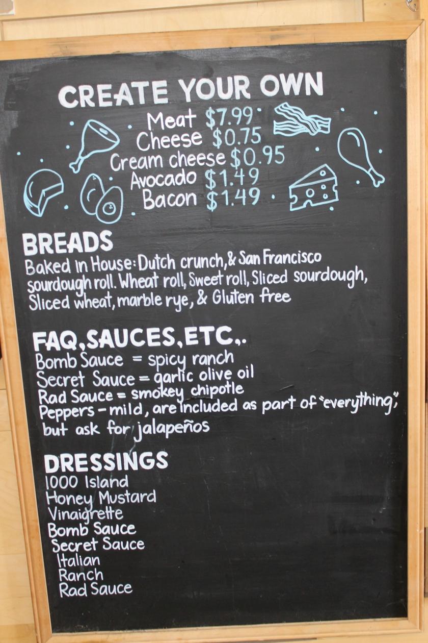 Sandwhich Spot menu 1