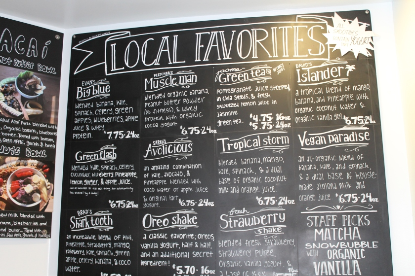 Encinitas yo menu