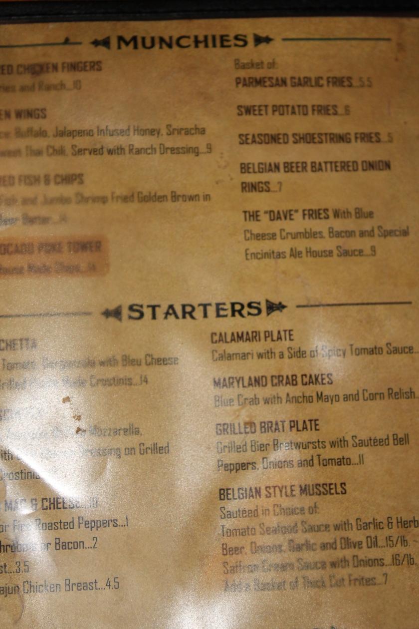 Ale menu