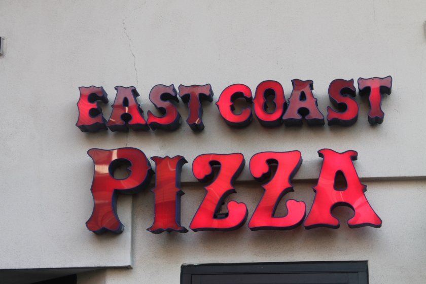 East Coast Pizza sign