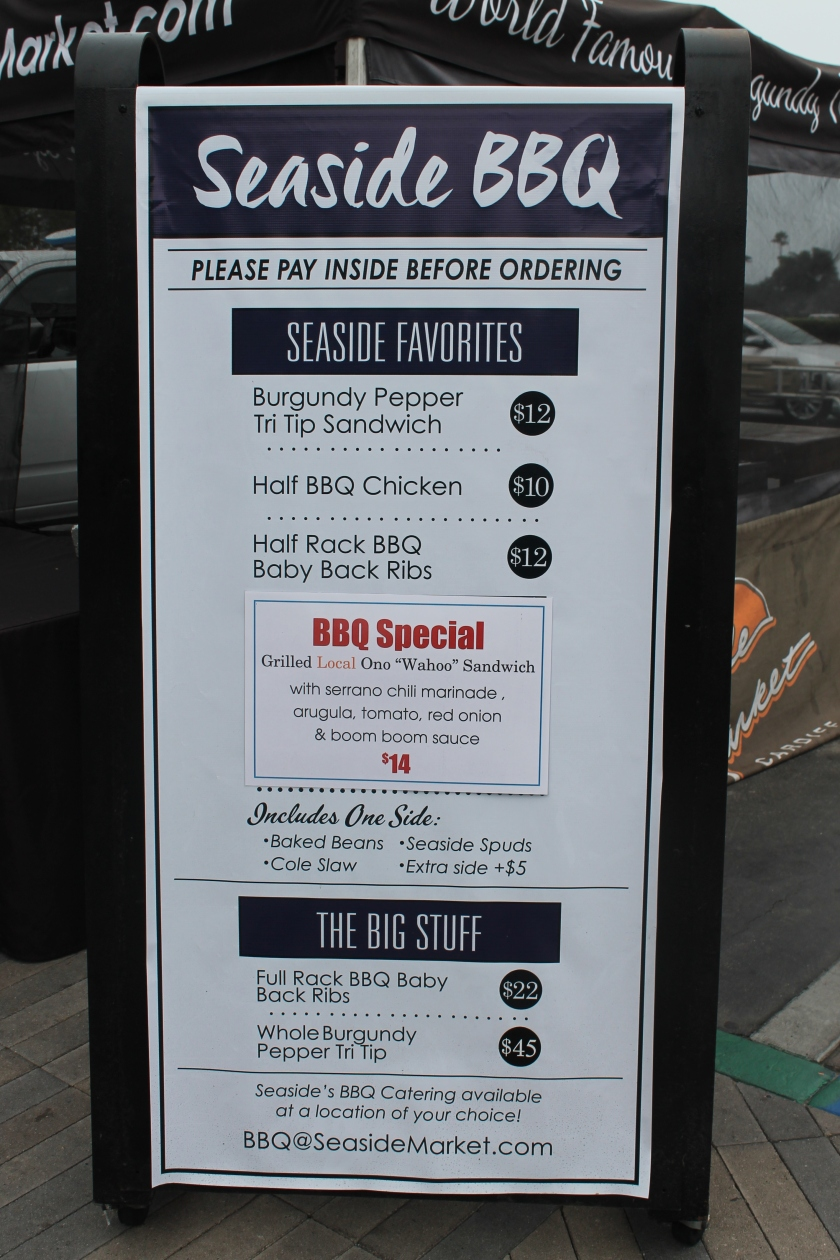 Seaside menu