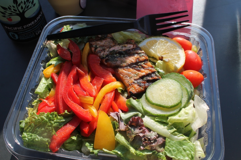 Seaside salmon salad