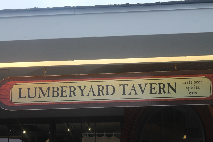 Lumberyard Tavern sign