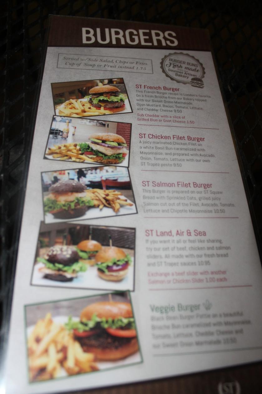 St. Trop burgers