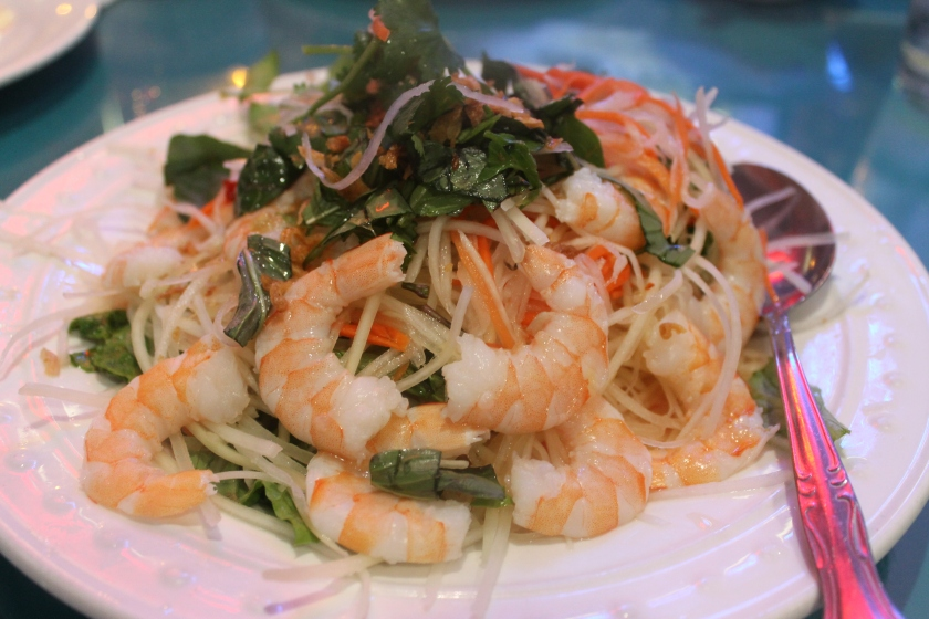 Kim's shrimp papaya
