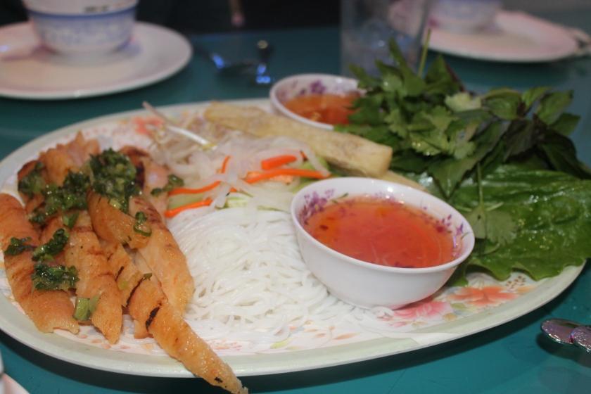 Kim's shrimp platter