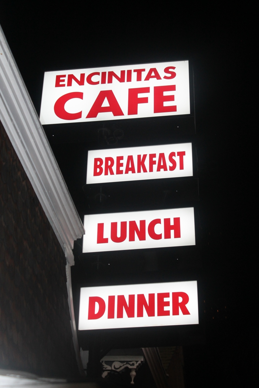 encinitas cafe sign