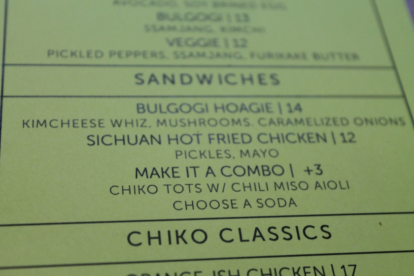 Chiko lunch
