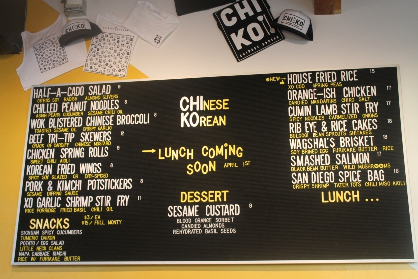 Chiko menu up